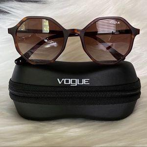 Women's Vogue Brown Tortoise Sunglasses